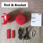 Gym Accessories Online Red Waterproof Bicycle Bluetooth Speaker