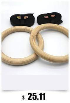 Gym accessories online Rings Wooden 28 mm Exercise Gymnastic Rings Pull Ups/Muscle Ups