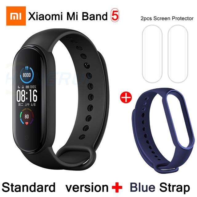Gym Accessories Online CN Mi Band 5 Add 2 Xiaomi Mi Band 5 Bluetooth Smart Wristband Color AMOLED Screen