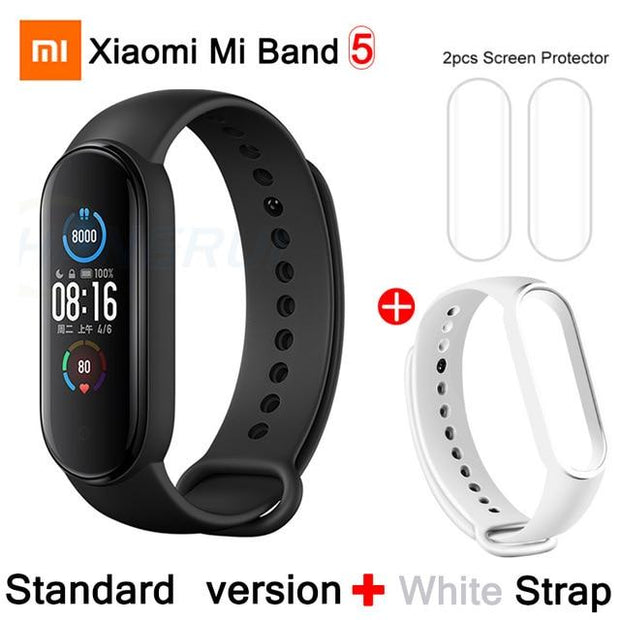 Gym Accessories Online CN Mi Band 5 Add 6 Xiaomi Mi Band 5 Bluetooth Smart Wristband Color AMOLED Screen