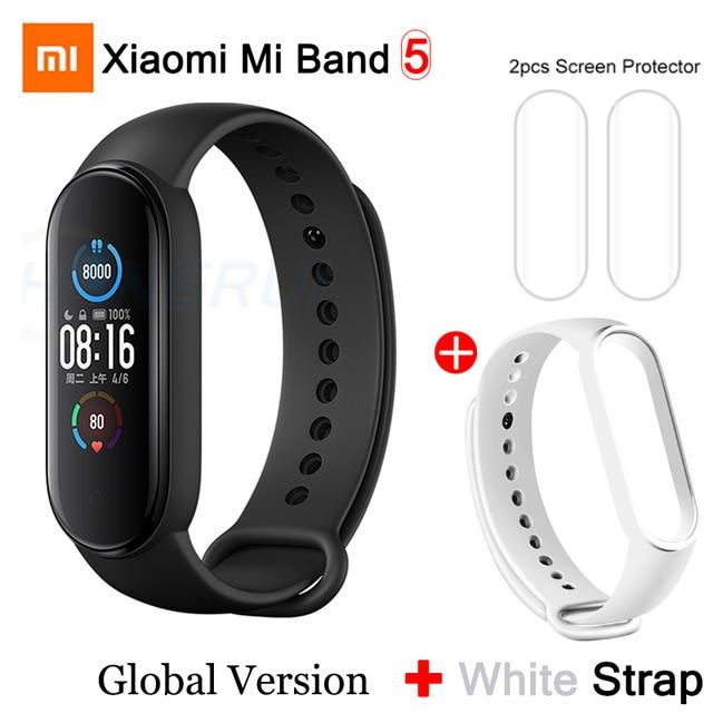 Gym Accessories Online Mi Band 5 GB add 7 Xiaomi Mi Band 5 Bluetooth Smart Wristband Color AMOLED Screen