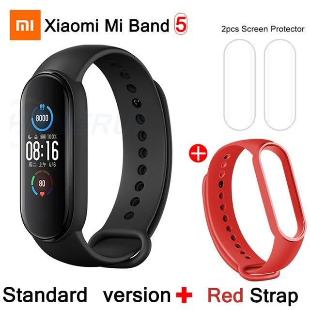 Gym Accessories Online CN Mi Band 5 Add 4 Xiaomi Mi Band 5 Bluetooth Smart Wristband Color AMOLED Screen