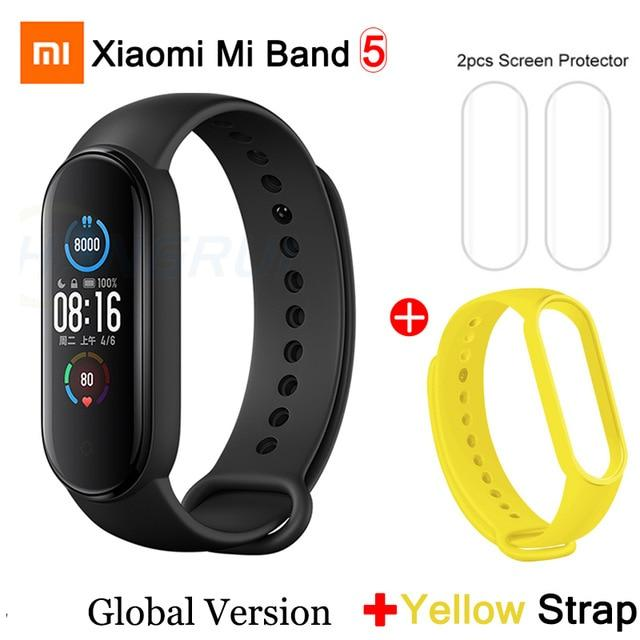 Gym Accessories Online Mi Band 5 GB add 5 Xiaomi Mi Band 5 Bluetooth Smart Wristband Color AMOLED Screen
