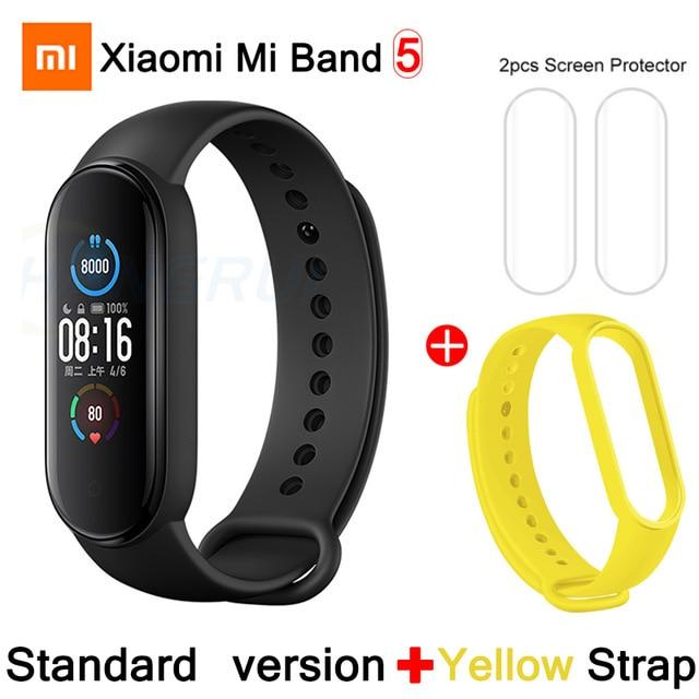 Gym Accessories Online CN Mi Band 5 Add 7 Xiaomi Mi Band 5 Bluetooth Smart Wristband Color AMOLED Screen