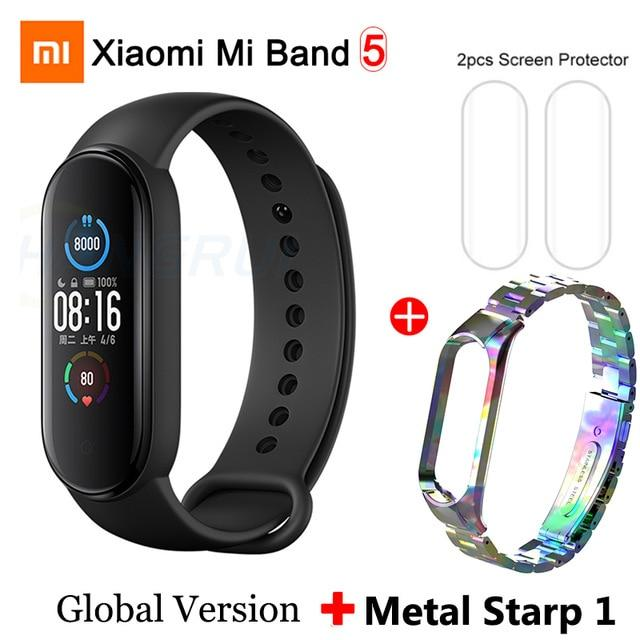 Gym Accessories Online Xiaomi Mi Band 5 Bluetooth Smart Wristband Color AMOLED Screen