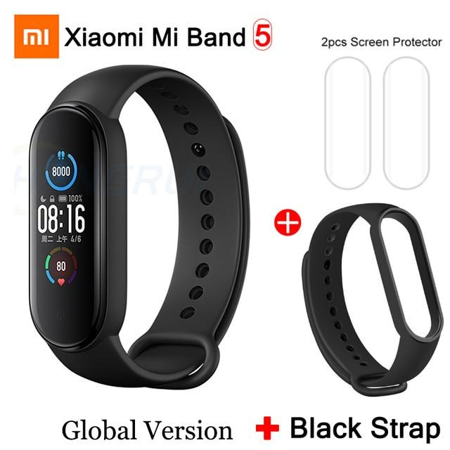 Gym Accessories Online Mi Band 5 GB add 10 Xiaomi Mi Band 5 Bluetooth Smart Wristband Color AMOLED Screen
