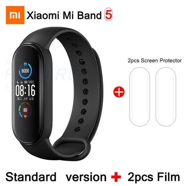 Gym Accessories Online CN Mi Band 5 2Film Xiaomi Mi Band 5 Bluetooth Smart Wristband Color AMOLED Screen