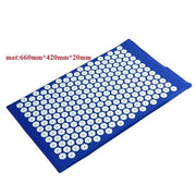 Gym Accessories Online Blue02 mat Yoga Mat with Massage Functionand a Pillow