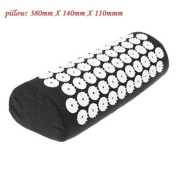 Gym Accessories Online Black Pillow Yoga Mat with Massage Functionand a Pillow