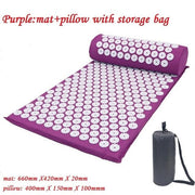Gym Accessories Online Purple with bag Yoga Mat with Massage Functionand a Pillow