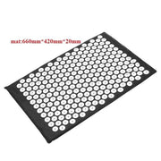Gym Accessories Online Black mat Yoga Mat with Massage Functionand a Pillow