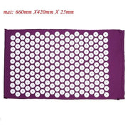 Gym Accessories Online Purple mat Yoga Mat with Massage Functionand a Pillow