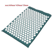 Gym Accessories Online Green01 mat Yoga Mat with Massage Functionand a Pillow