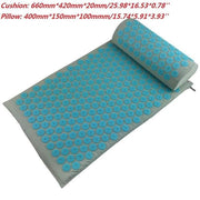 Gym Accessories Online Blue03 without bag Yoga Mat with Massage Functionand a Pillow