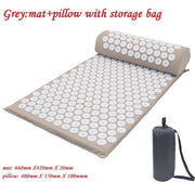 Gym Accessories Online grey with bag Yoga Mat with Massage Functionand a Pillow