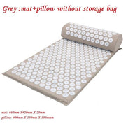 Gym Accessories Online grey without bag Yoga Mat with Massage Functionand a Pillow