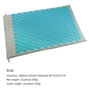 Gym Accessories Online Light Blue Mat Yoga Mat with Massage Functionand a Pillow