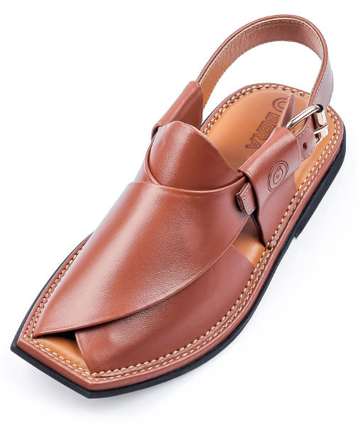 Brown T Shape Peshawari Chappal