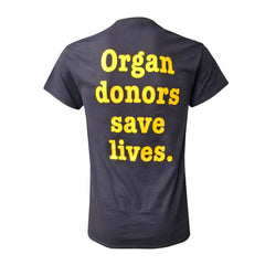 UM Transplant Organ Donors Save T-Shirt - Navy