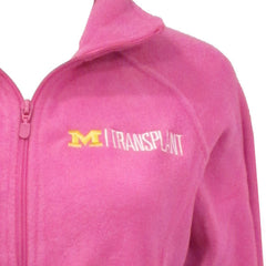 UM Transplant Embroidered Logo Fleece - Pink