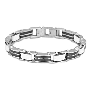 Load image into Gallery viewer, Ceramic and stainless steel 7mm 20cm adjustable bracelet