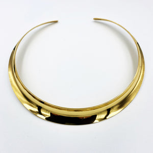 Collar sterling silver 18ct gold plated flexible necklett