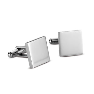 Cuff links stainless steel square highly polished finish