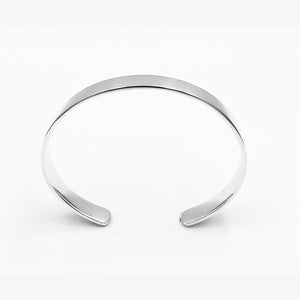 Minimal cuff highly polished solid sterling silver 68mm