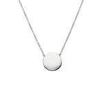 Petite disc sterling silver fine adjustable chain necklett