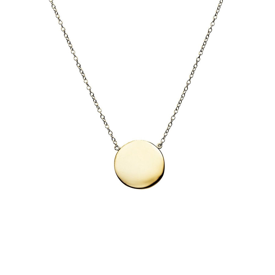 Petite disc sterling silver gold plated fine adjustable chain necklett