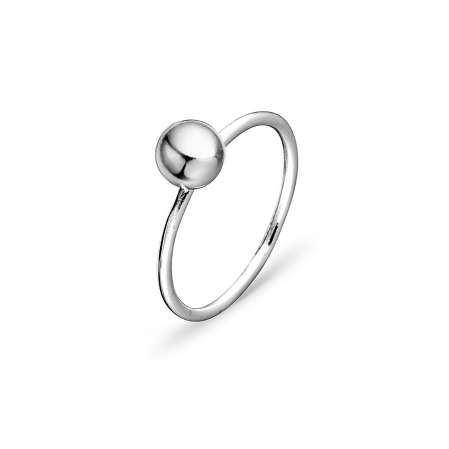 Petite euro ball ring sterling silver