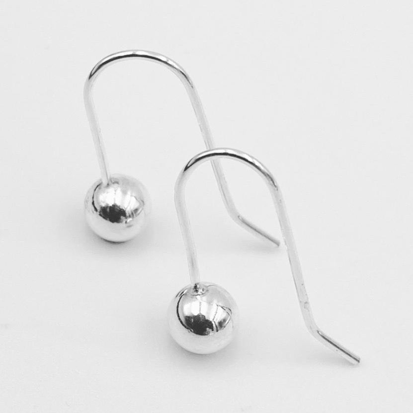 Petite Euro ball shepherd hook earrings