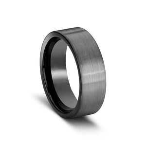 Load image into Gallery viewer, Tungten ring flat squared brushed finish