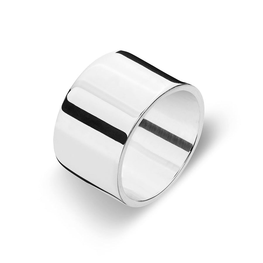 Wide solid sterling silver polised ring