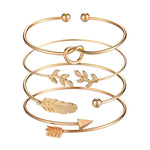 Load image into Gallery viewer, Gold Cuff Set