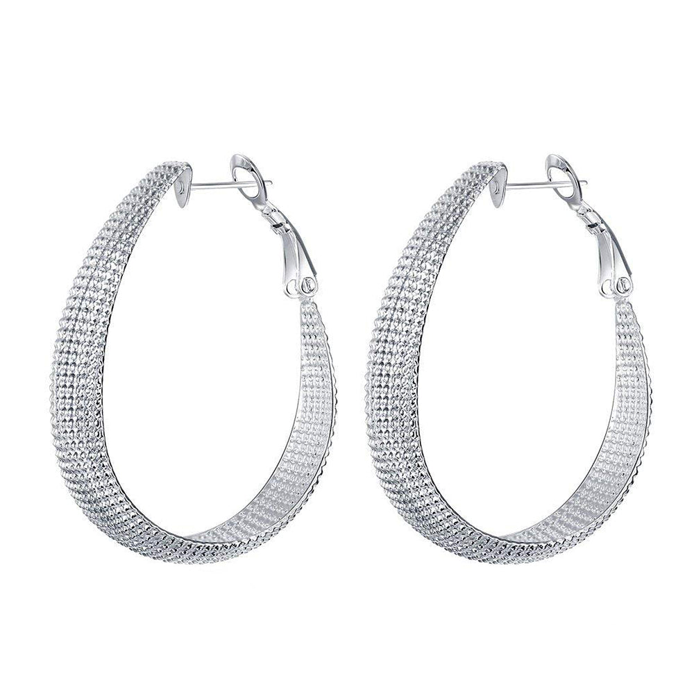 Large Drop Hoop Earrings