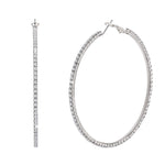 Load image into Gallery viewer, Large Thin Hoops Earrings
