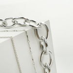 Load image into Gallery viewer, Silver Lock Necklace