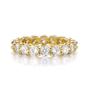 Gold and Cubic Zirconia Stackable Ring