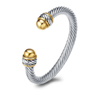 Cable Wire Twist Bracelet
