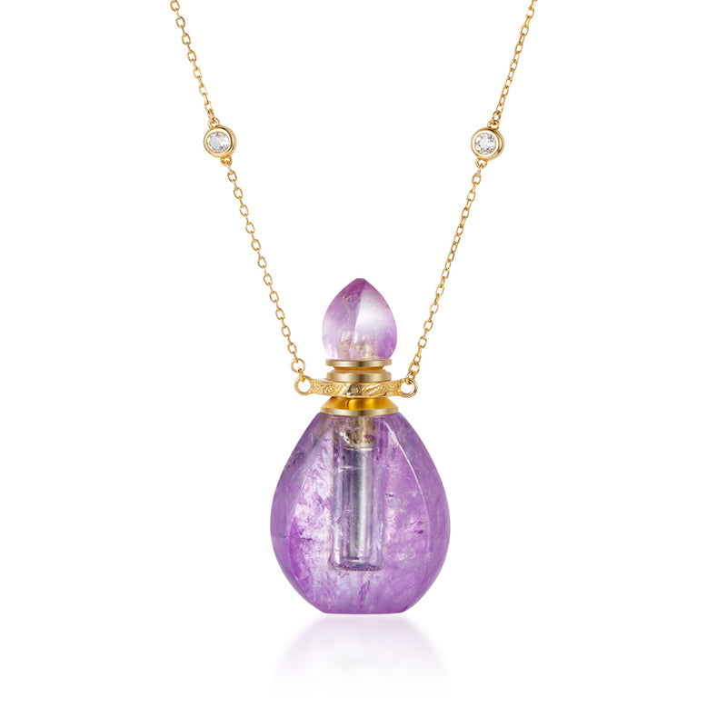 FLORID | Amethyst Gold Plated Necklace