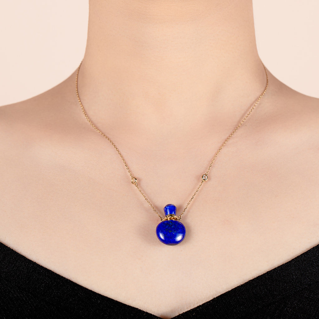 ULTRAMARINE | Lapis Lazuli Gold Plated Necklace