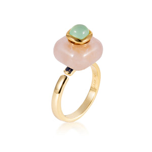 ELEGANCE | Jade Rose Quartz Ring