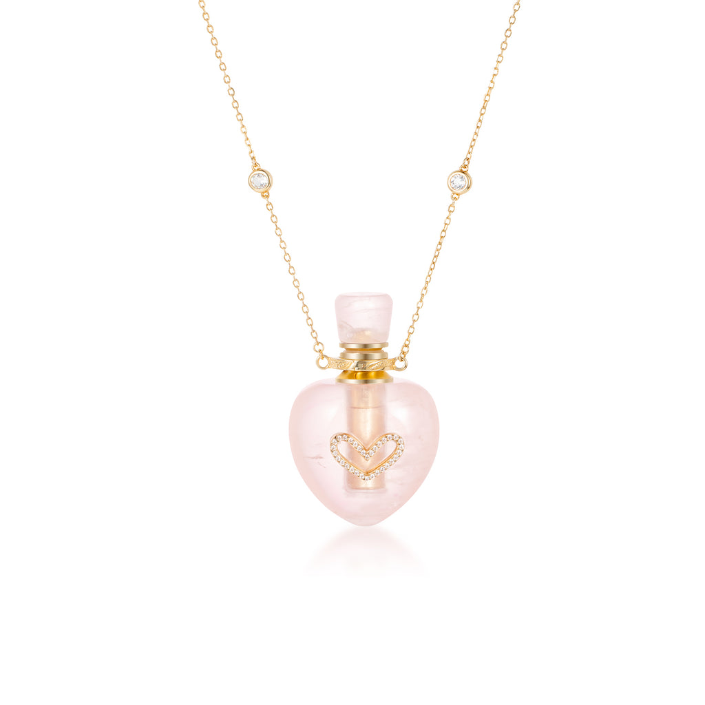 LOVED| Rose Quartz Gold Plated Necklace