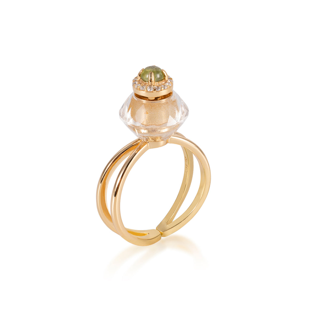 GRANDIOSE | Quartz & Tourmaline Ring