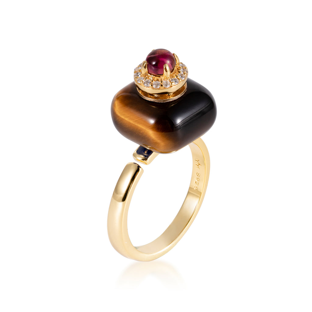 ABLAZE | Yellow Tiger Eye Ring
