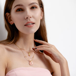 CURATE | Rose Quartz Gold Plated Necklace