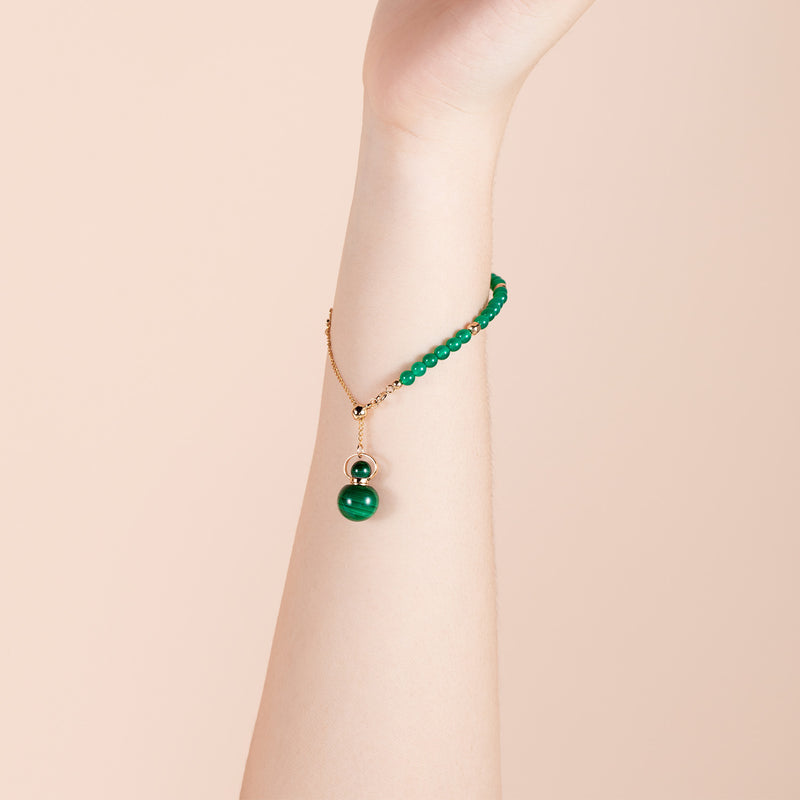 ELLE | Malachite Gold Plated Bracelet