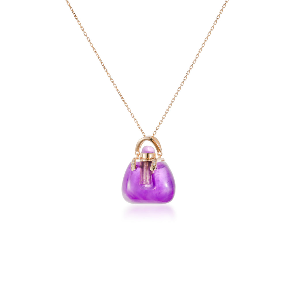 Mystery丨Amethyst Stone 18K Gold Necklace
