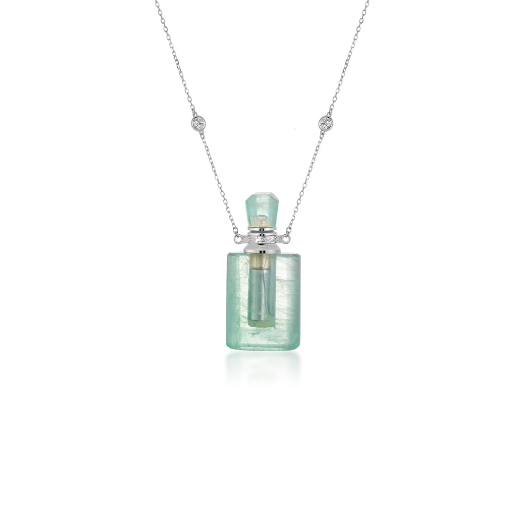 LILT | Green Fluorite Sterling Silver Necklace
